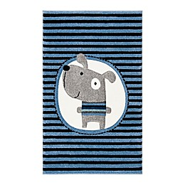 Safavieh Carousel Kids Dog Area Rug in Navy