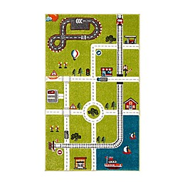Safavieh Carousel Kids Speedway Area Rug in Green