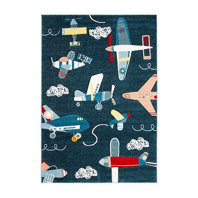 Safavieh Carousel Kids Airplane Area Rug In Navy Bed Bath Beyond