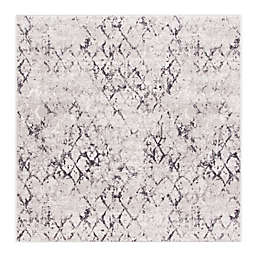 Safavieh Amelia Sidney 6'7 Square Handcrafted Area Rug in Grey