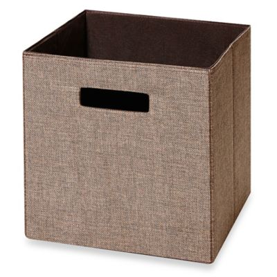 Real Simple 174 Fabric Drawer In Chocolate Bed Bath Amp Beyond