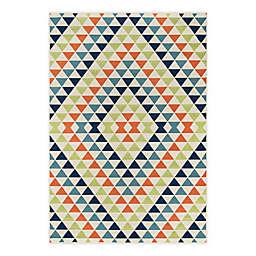 Momeni® Baja Kaleidoscope 3'11 x 5'7 Multicolor Indoor/Outdoor Area Rug
