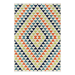 Momeni® Baja Kaleidoscope 6'7 x 9'6 Multicolor Indoor/Outdoor Area Rug