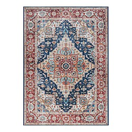 Madison Park Madison Printed Area Rug in Red