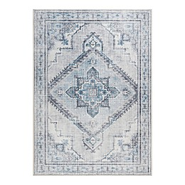 Madison Park Kingston Printed Area Rug in Blue/Grey