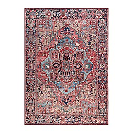Madison Park Hudson Printed Area Rug in Red