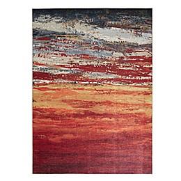 Madison Park Daybreak Printed Matte Area Rug in Red/Orange