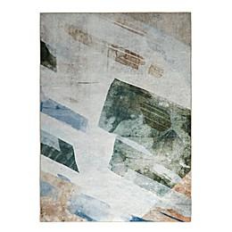 Madison Park Flourish Printed Matte Area Rug in Cream/Blue/Beige