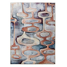 Madison Park Copper Printed Matte Area Rug in Cream/Grey/Beige