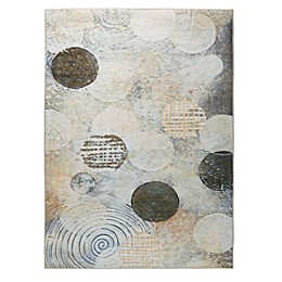 Madison Park Solace Printed Matte Area Rug in Cream/Grey