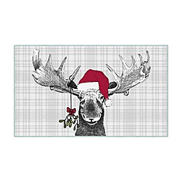 Mohawk Prismatic Holiday Moose Printed Accent Rug in Grey