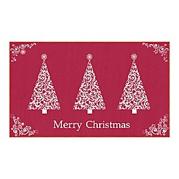 Mohawk Prismatic Ornamental Trees Printed Accent Rug in Red