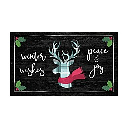 Mohawk Prismatic Winter Wishes Printed Accent Rug in Black