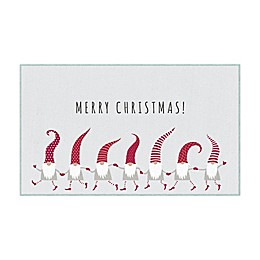 Mohawk Prismatic Christmas Elves Printed Accent Rug in Grey