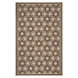 Martha Stewart by Safavieh Puzzle 5'6 x 8'6 Area Rug in Brown