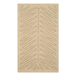 Martha Stewart by Safavieh Chevron Leaves 2'6 x 4'3 Handcrafted Accent Rug in Gold