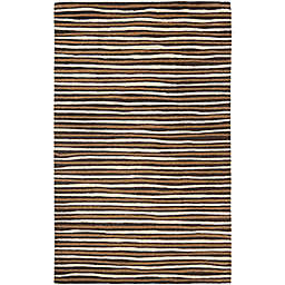Martha Stewart by Safavieh Hand Drawn Stripe Rug in Brown
