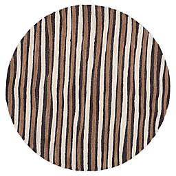 Martha Stewart by Safavieh Hand Drawn Stripe 6' x 6' Area Rug in Brown