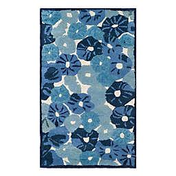Martha Stewart by Safavieh Poppy Field 2'6 x 4'3 Accent Rug in Blue