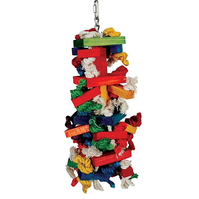 Alternate image 1 for Paradise Toys Knots n Blocks Bird Activity Center