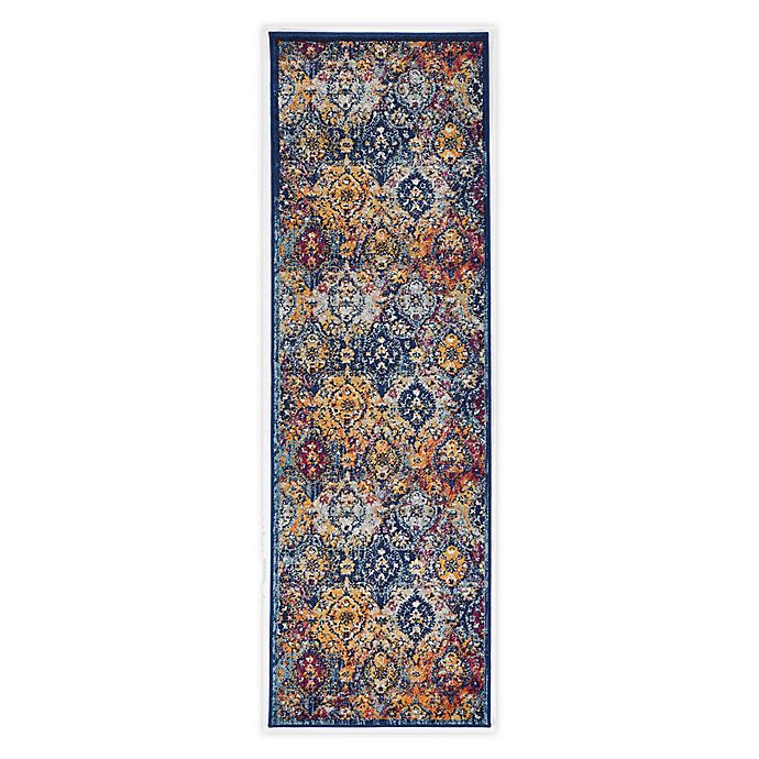 Alternate image 1 for Linon Home Staten Grenich 8' x 10' Area Rug in Teal/Ivory