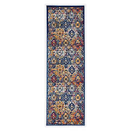 Linon Home Staten Grenich 8' x 10' Area Rug in Teal/Ivory