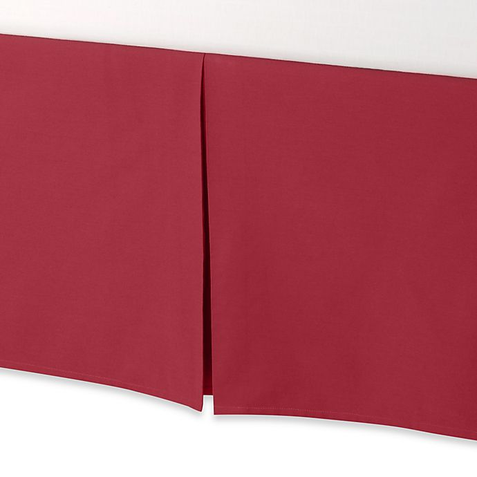 Alternate image 1 for Smoothweave™ 14-Inch Tailored King Bed Skirt in Claret