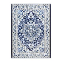 Madison Park Fairfield 5' x 7' Printed Area Rug in Blue