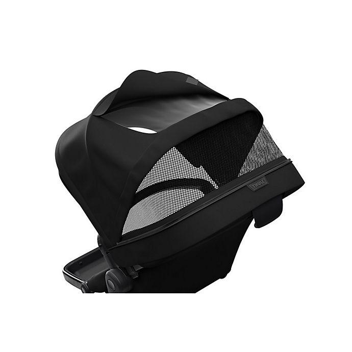 Alternate image 1 for Thule Sleek Stroller Sibling Seat in Black on Black