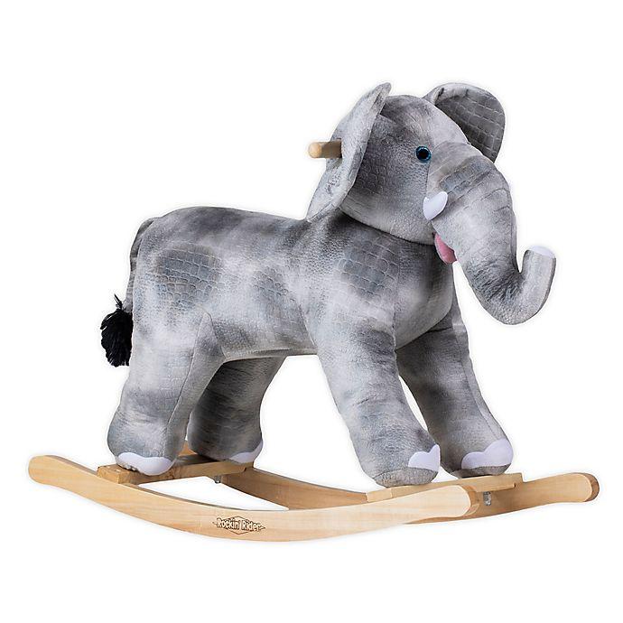 Alternate image 1 for Rockin' Rider® Elliott the Rocking Elephant in Grey