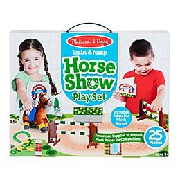 Melissa & Doug® 25-Piece Train & Jump Horse Show Playset