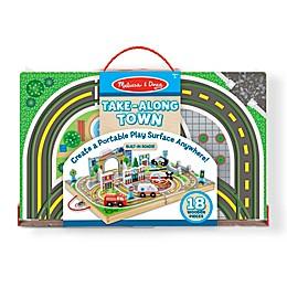 Melissa & Doug® 18-Piece Take-Along Town Playset