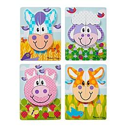 Melissa & Doug® First Play Jigsaw Farm Puzzles (Set of 4)