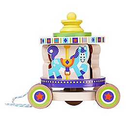 Melissa & Doug® First Play Wooden Carousel Pull Toy