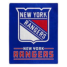 NHL New York Rangers Super-Plush Raschel Throw Blanket