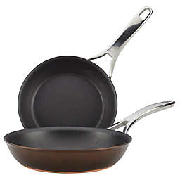 Anolon® Nouvelle Copper Luxe Nonstick Hard-Anodized Skillet Twin Pack in Sable