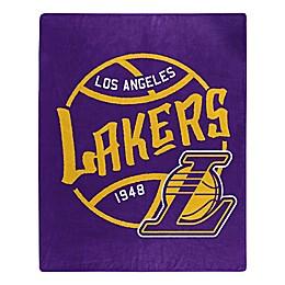 NBA Los Angeles Lakers Super-Plush Raschel Throw Blanket