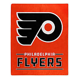 NHL Philadelphia Flyers Super-Plush Raschel Throw Blanket