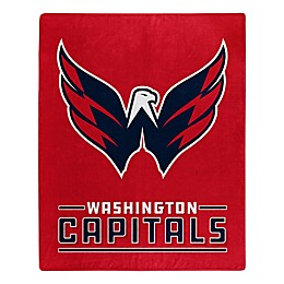 NHL Washington Capitals Super-Plush Raschel Throw Blanket