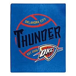 NBA Oklahoma City Thunder Super-Plush Raschel Throw Blanket