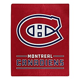 NHL Montreal Canadiens Super-Plush Raschel Throw Blanket