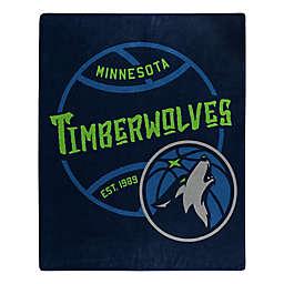 NBA Minnesota Timberwolves Super-Plush Raschel Throw Blanket