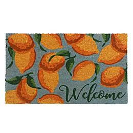 Lemon 18-Inch x 30-Inch Coir Doormat