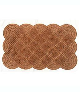 Tapete para entrada Knot de fibra de coco, 50.8 x 76.2 cm en natural