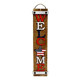 Patriotic Hanging Welcome Sign