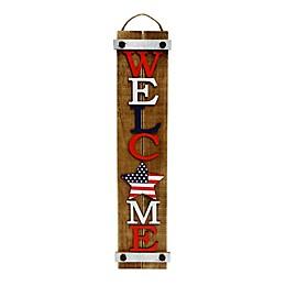 Patriotic Hanging Welcome Sign