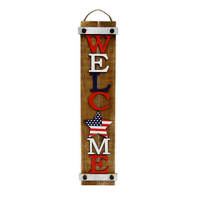 Alternate image 1 for Patriotic Hanging Welcome Sign