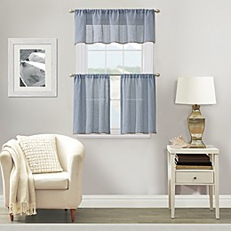 Linden Window Curtain Tier Pair and Valance