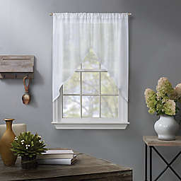 Linden 38-Inch Window Curtain Swag Pair in White