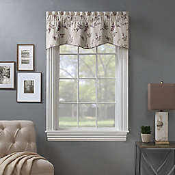 Bedford Embroidered Blackout Window Valance in Natural
